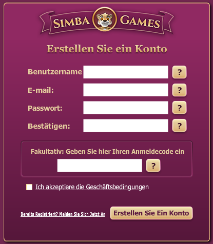 Simba Games Registration