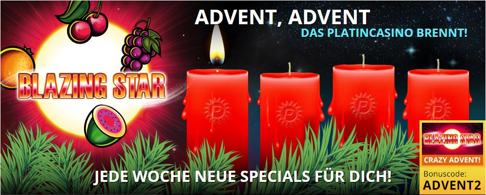 Blazing Star Advent im Platincasinio